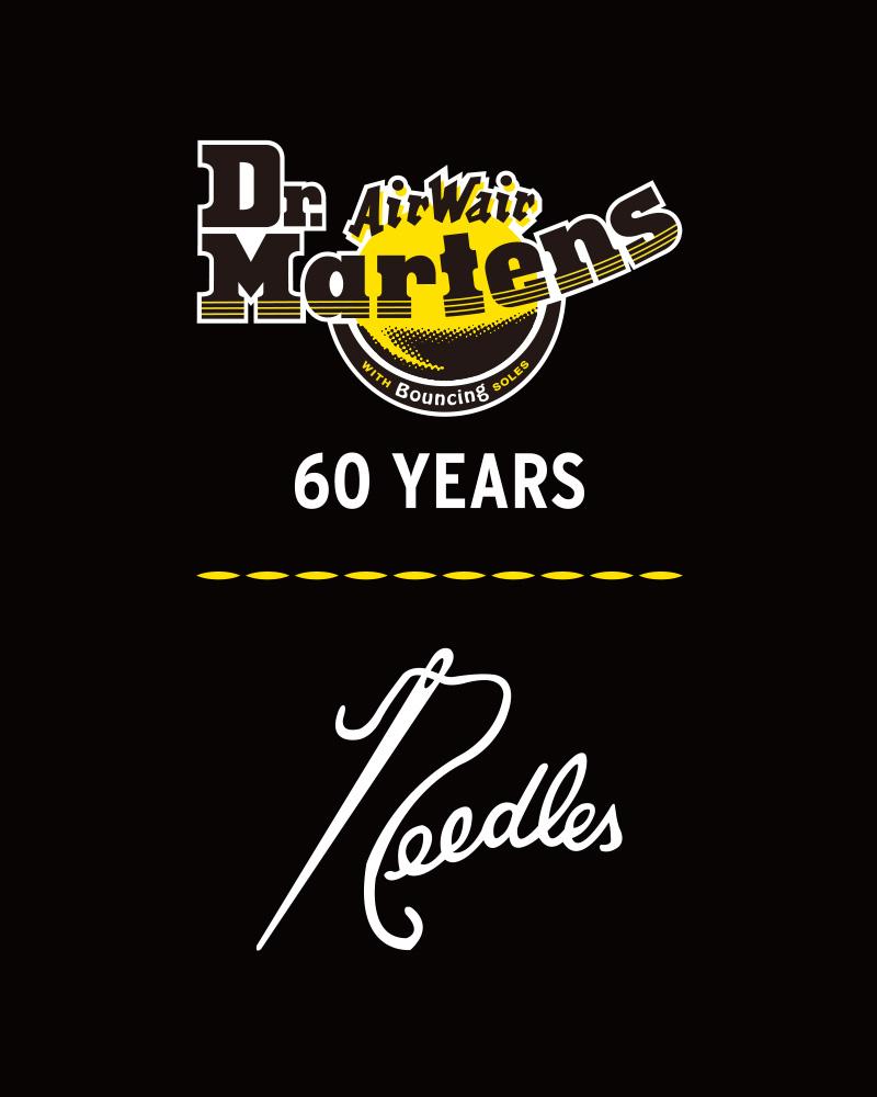 〈NEEDLES〉x〈Dr.MARTENS〉 誕生60年周年を記念した8ホールブーツが発売