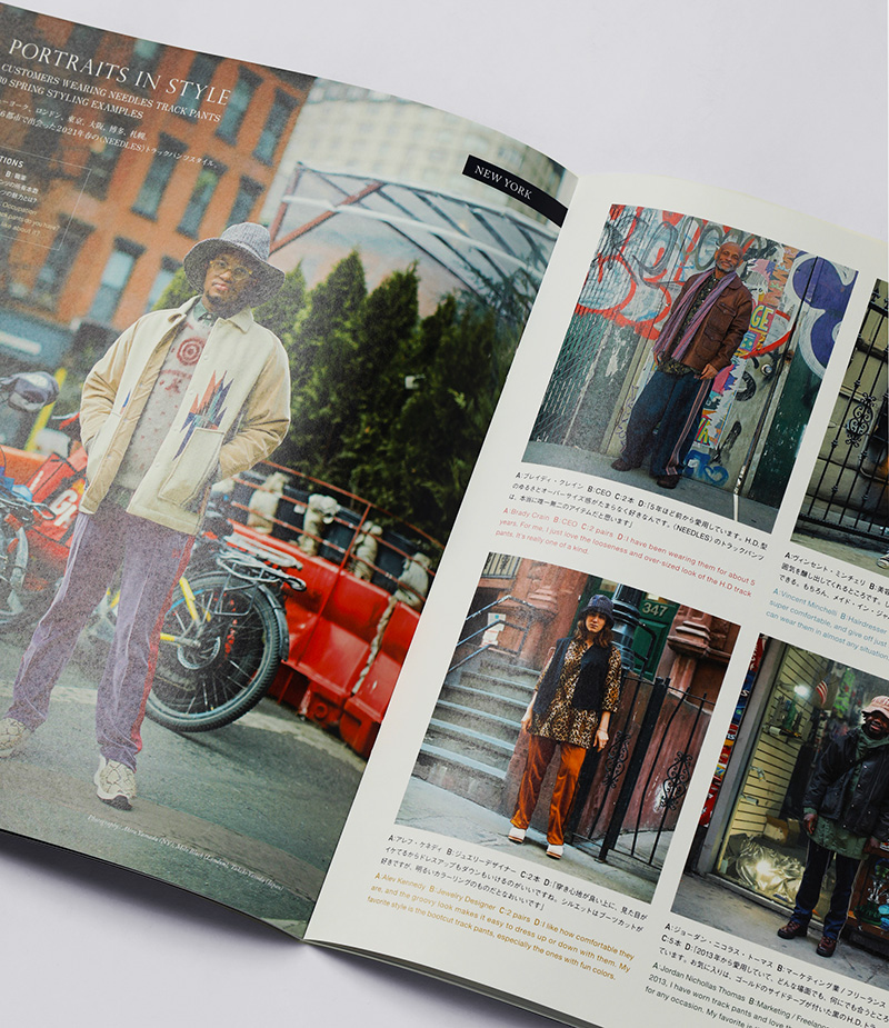 『NEPENTHES in print』#14OUR STORY OF THE NEEDLES TRACK PANT