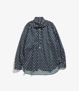 Ascot Collar EDW Shirt - Cotton Sateen / Pt.