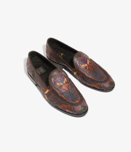 NEEDLES Papillon Emb. Leather Slip-On